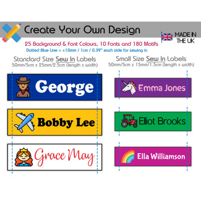 Chunky Name Labels (all sizes)