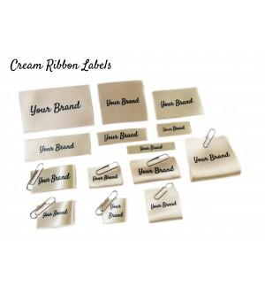 Cream Custom Fabric Labels - New Design