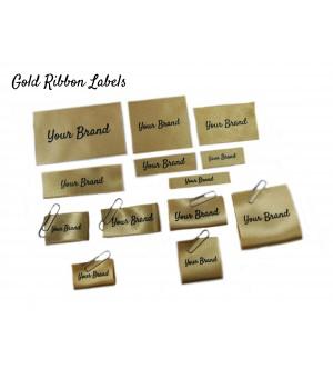 Gold Custom Fabric Labels - New Design