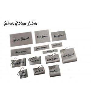 Silver Custom Fabric Labels - New Design