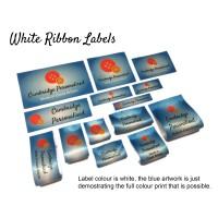 White Custom Fabric Labels - New Design