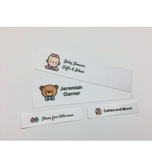 Baby Shower Motifs Collection Name Labels