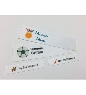 Sports Motifs Collection Name Labels