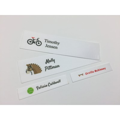 Summer Sports Motifs Collection Name Labels