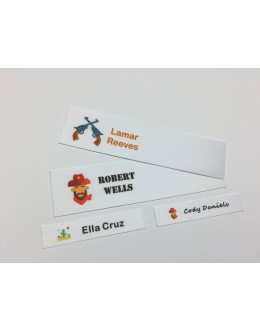 Wild West Motifs Collection Name Labels