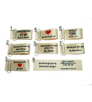 25x50mm Cream Handmade for you labels
