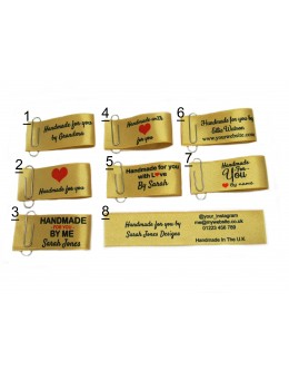 25x50mm (FOLD) Gold Handmade for you labels