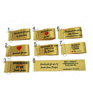 25x50mm Gold Handmade for you labels