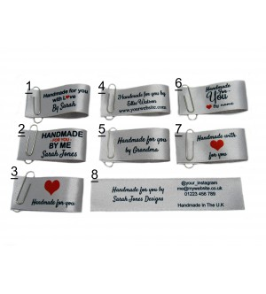 25x50mm Silver Handmade for you labels