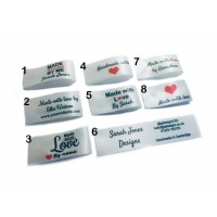 25x50mm Bridal Made and Handmade with love labels