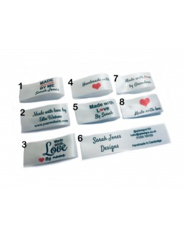 25x50mm (FOLD) Bridal Made and Handmade with love labels
