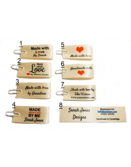 25x50mm (FOLD) Cream Made and Handmade with love labels