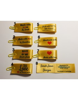 25x50mm Gold Made and Handmade with love labels