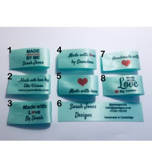 25x50mm Eau De Nll (light green) Made and Handmade with love labels