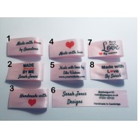 25x50mm Light Pink Made and Handmade with love labels