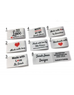 25x50mm White Made and Handmade with love labels