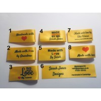 25x50mm Yellow Made and Handmade with love labels
