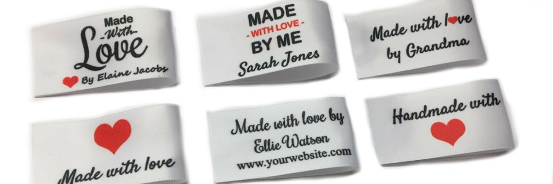 Handmade and Made with love Labels