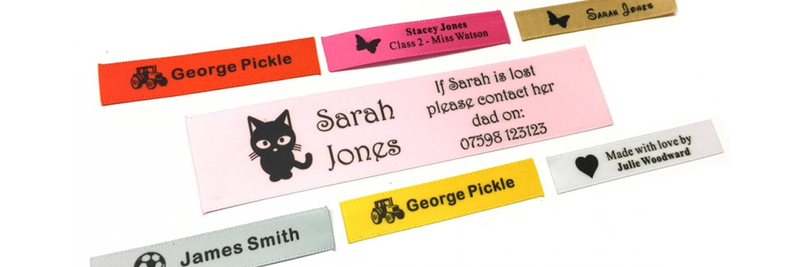 Personalised Sew In Clothes Name Labels 1