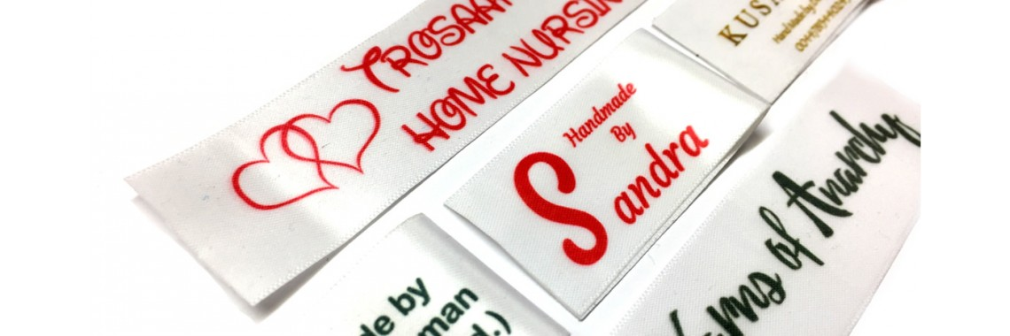 Bespoke Custom Full Colour Logo Sew in Clothes Labels