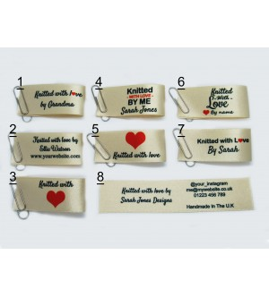 25x50mm Cream Knitted with love labels