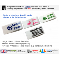 25mm White Name Labels