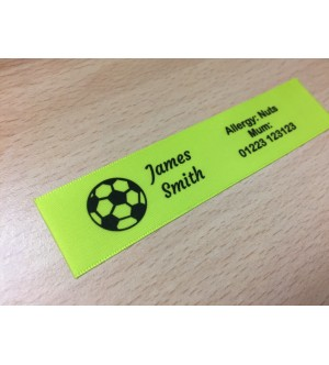 10mm & 25mm Lime Name Labels