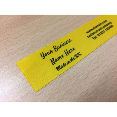10mm & 25mm Yellow Name Labels