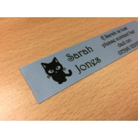 10mm & 25mm Light Blue Name Labels