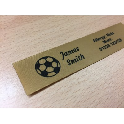 10mm & 25mm Gold Name Labels
