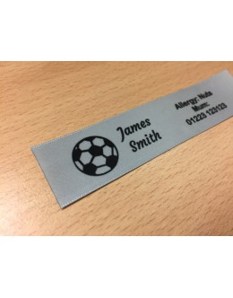 10mm & 25mm Silver Name Labels