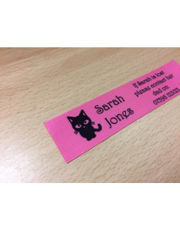 10mm & 25mm Pink Name Labels
