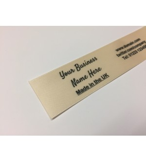 10mm & 25mm Cream Name Labels