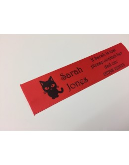 10mm & 25mm Red Name Labels