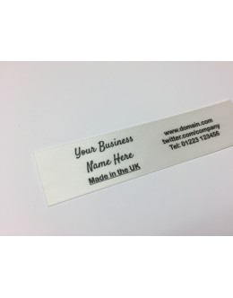 10mm & 25mm Bridal White Name Labels