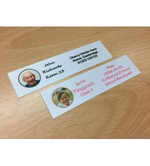 25mm White Photo Name Labels