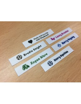 10mm White  Name Labels