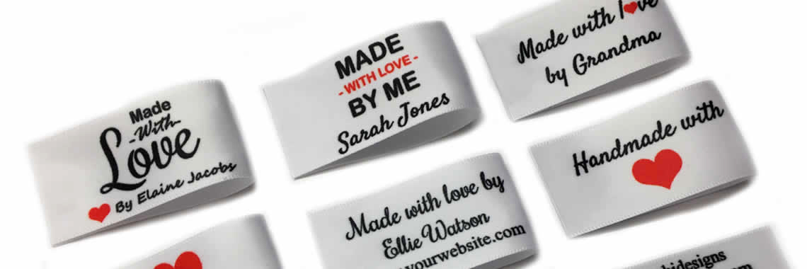 Personalised Large Flat Handmade with love labels